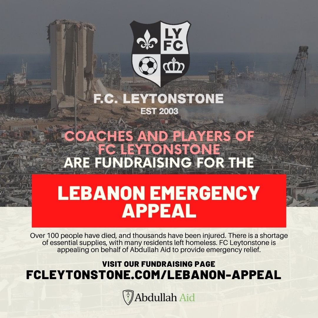 FC Leytonstone youth players to run 5k for the leabanon emergency appeal